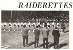 Raiderettes lined up for the Grand Entry. (Carolyn Brown)