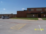 South parking lot and Gym of old Bell High.