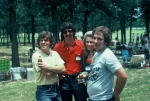 (036) 1975 Reunion Picnic Event:  Eddie Gill, Gary Sibley, and Bill Clements on the far right.
