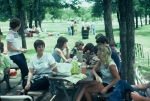 (039) 1975 Reunion Picnic Event:  Maybe Gail Ince on the left in the white blouse with dark trim.  Then maybe Brenda Dur