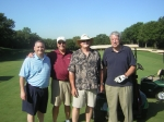 Golfing: Kevin and Tommy Lee, Alan Allman, Les Thomas