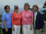 2010 Girl Friends Trip to New Hampshire.  Judy Glasgow-Hatfield, Paula Mikel-Clements, Judy Water-Baldwin and Beverly Wa