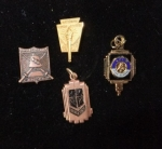 Pins and Charms contributed by Carolyn Brown:  clockwise:  National Honor Society, Bell HS Charm, Girls Athletic Award,
