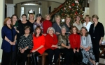 2014 Bell Chicks Christmas Party.  Front:  Judy Glasgow, Sherry Hill, Judy Carrothers-Carr, Carolyn Walters, Sharon Russ