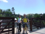 (husband George) took this pic of Kenneth and me on a bridge over the Animas river in Durango